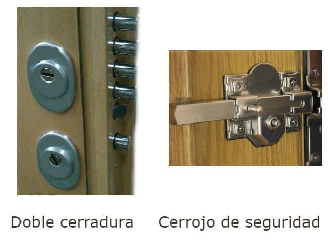 cerradura doble de seguridad o cerrojo